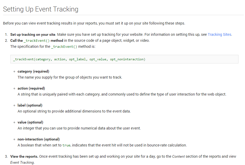Google Analytics Custom Tracking