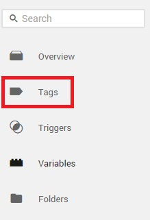 Left Navigation in Google Tag Manager Tags