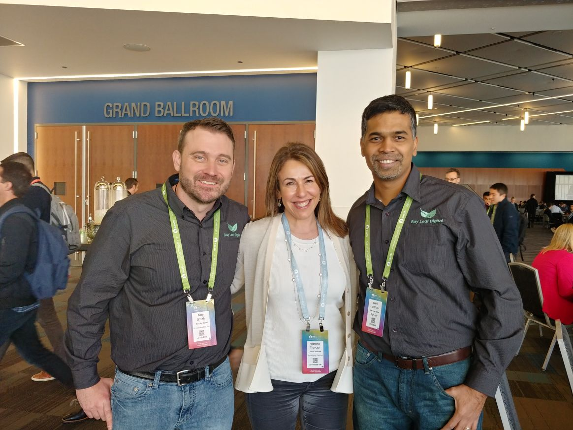 Bay Leaf Digital founders with former Kabbage CMO turned VC partner, Victoria Treyger